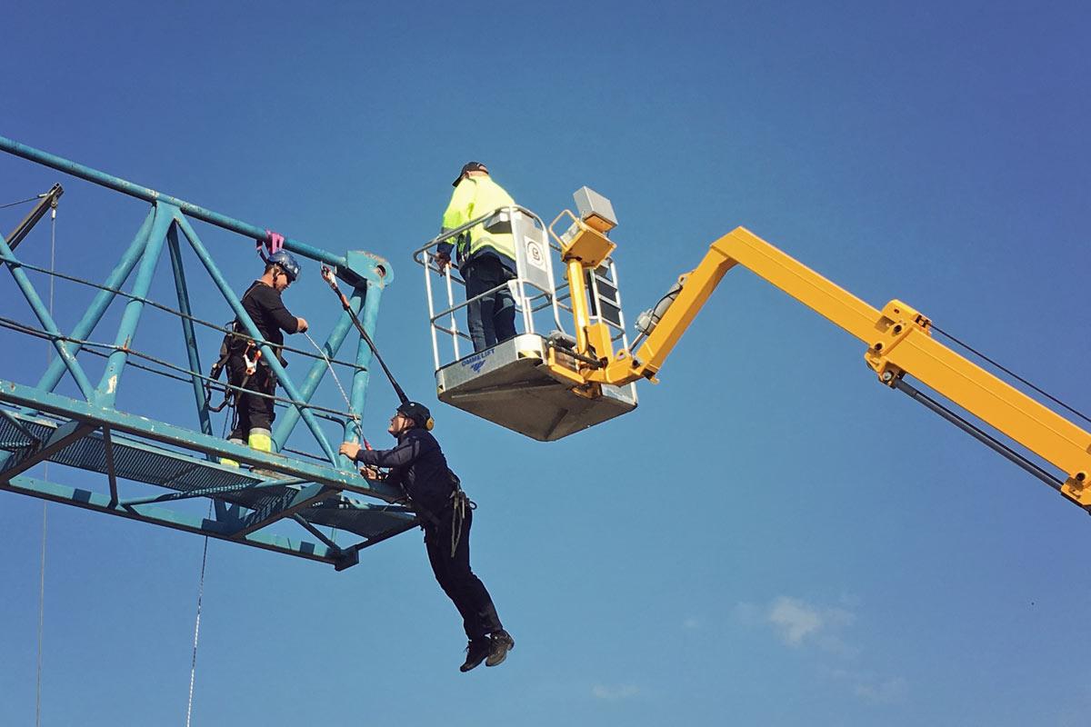 Fallskyddsutbildning för montörer