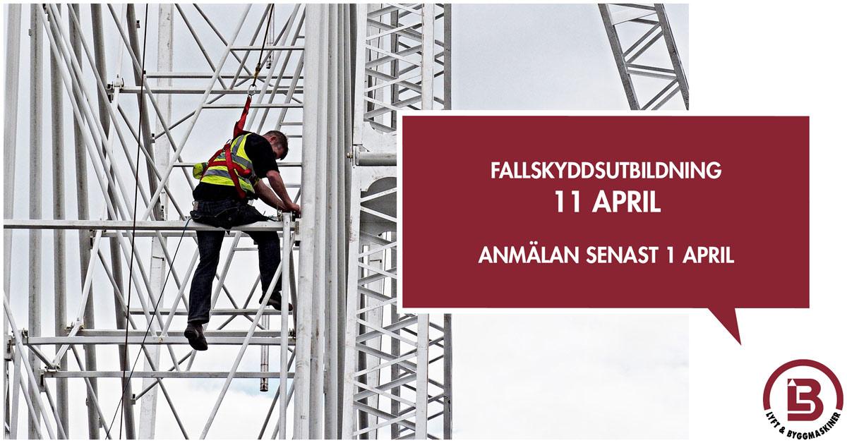 Fallskyddsutbildning 11 april 2019