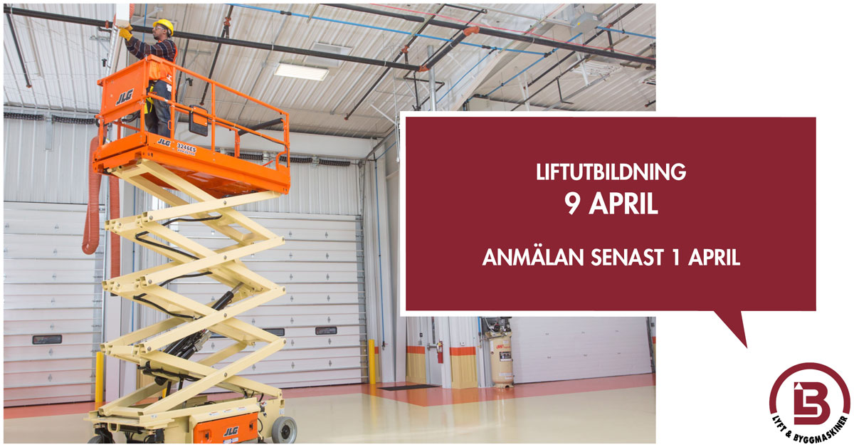 Liftutbildning 9 april 2019