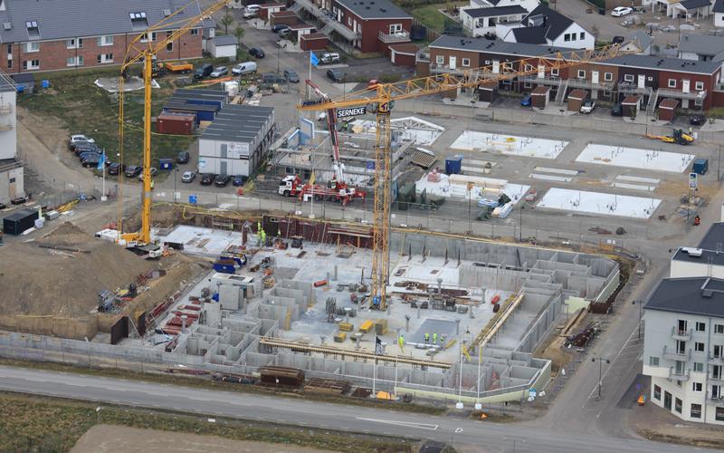 referensprojekt Mariastaden flygfoto