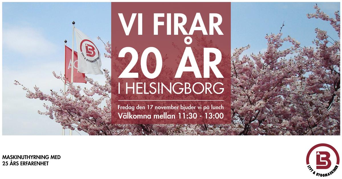20 år i Helsingborg