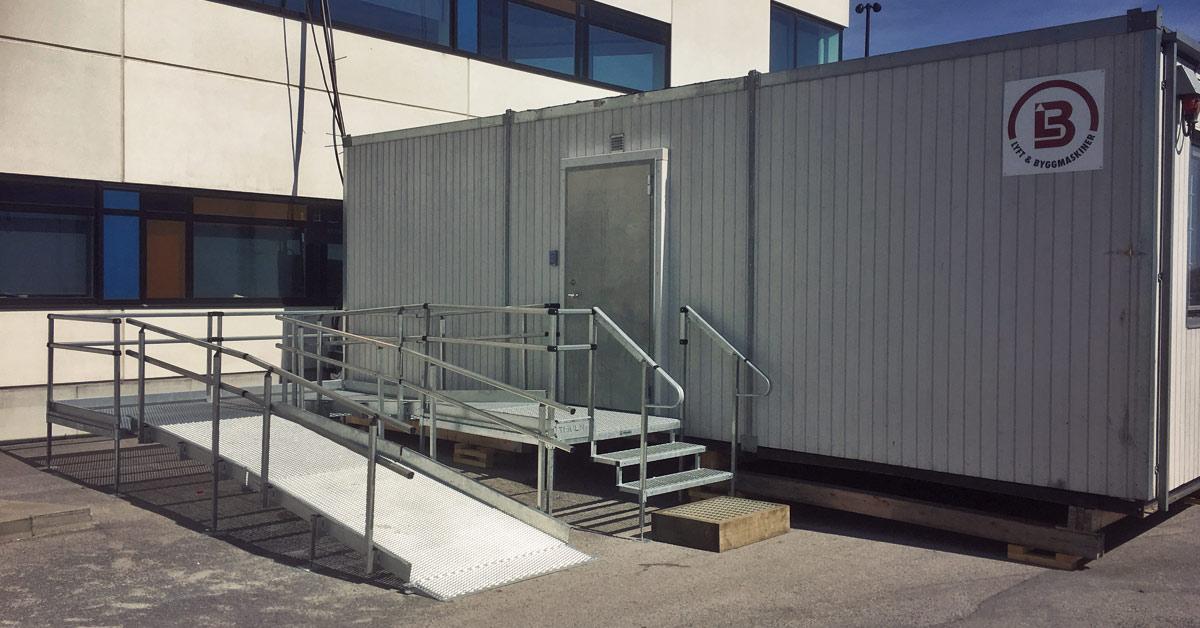 Bodetablering utrustad med ramp och breddade dörrar
